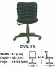 Kursi Staff & Sekretaris Indachi Civil II N