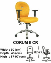 Kursi Staff & Sekretaris Indachi Corum II CR
