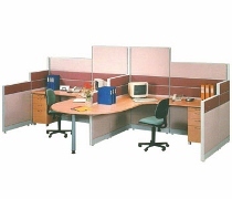 Partisi Kantor Uno Exclusive 2 Staff Configuration