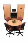 Meja Rapat Bulat 4 Orang