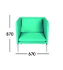 Sofa Kantor Donati  Matten 1 Seater