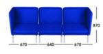 Sofa Kantor Donati  Matten 3 Seater