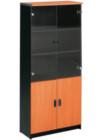 Lemari Arsip Tinggi Pintu Panel + Pintu Atas Kaca Bawah type DOC-53