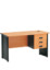 Meja Kantor 1/2 Biro + Laci Gantung kunci single type DOD-10